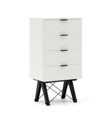 KOMODA TALLBOY LOW kolor LIGHT GREY stelaż BUK BLACK  Komoda w formie szufladnika TALLBOY. Idealnie posłuży jako bieliźniarka w sypialni lub pokoju...