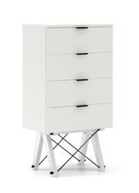 KOMODA TALLBOY LOW kolor LIGHT GREY stelaż BUK WHITE  Komoda w formie szufladnika TALLBOY. Idealnie posłuży jako bieliźniarka w sypialni lub pokoju...