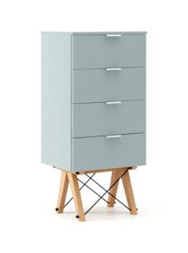 KOMODA TALLBOY LOW kolor ICE BLUE stelaż BUK (standard)  Komoda w formie szufladnika TALLBOY. Idealnie posłuży jako bieliźniarka w sypialni lub pokoju...