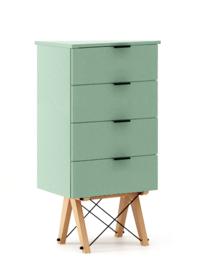 KOMODA TALLBOY LOW kolor MINT stelaż BUK (standard)  Komoda w formie szufladnika TALLBOY. Idealnie posłuży jako bieliźniarka w sypialni lub pokoju...