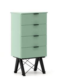 KOMODA TALLBOY LOW kolor MINT stelaż BUK BLACK  Komoda w formie szufladnika TALLBOY. Idealnie posłuży jako bieliźniarka w sypialni lub pokoju dziecka....