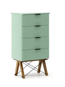 KOMODA TALLBOY LOW kolor MINT stelaż DĄB  Komoda w formie szufladnika TALLBOY. Idealnie posłuży jako bieliźniarka w sypialni lub pokoju dziecka....