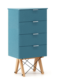 KOMODA TALLBOY LOW kolor OCEANIC stelaż BUK (standard)  Komoda w formie szufladnika TALLBOY. Idealnie posłuży jako bieliźniarka w sypialni lub pokoju...