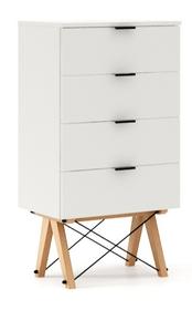 KOMODA TALLBOY LOW kolor WHITE stelaż BUK (standard)  Komoda w formie szufladnika TALLBOY. Idealnie posłuży jako bieliźniarka w sypialni lub pokoju...