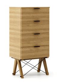 KOMODA TALLBOY LOW kolor RAW OAK stelaż DĄB  Komoda w formie szufladnika TALLBOY. Idealnie posłuży jako bieliźniarka w sypialni lub pokoju dziecka....