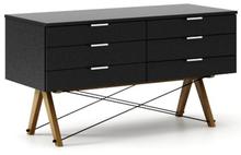 SZAFKA SIDEBOARD BASIC x6  Szafka SIDEBOARD z sześcioma szufladami, idealna jako podstawa pod TV lub komoda na drobiazgi. Wykonana ręcznie z litego drewna...
