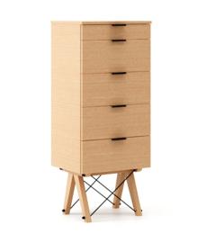 KOMODA TALLBOY TALL LUXURY WOOD blat BUK stelaż BUK (standard)  Komoda w formie szufladnika TALLBOY. Idealnie posłuży jako bieliźniarka w sypialni lub...
