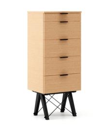 KOMODA TALLBOY TALL LUXURY WOOD blat BUK stelaż BUK BLACK  Komoda w formie szufladnika TALLBOY. Idealnie posłuży jako bieliźniarka w sypialni lub pokoju...