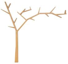 Ozdobna półka w kształcie drzewa.  Kolor: orzech  Materiał: drewno  Wymiary:  - Szerokość: 255 cm - Wysokość: 220 cm - Głębokość: 15 cm