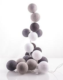 Idealne rozwiązanie dla Twojego wnętrza!  Zestaw składa się z 35 kolorowych, bawełnianych kul, żarówek i kabla. Kule można układać wzdłuż...