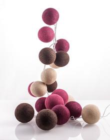 Zestaw Cotton balls Śliwkowy Sad 20 kul
