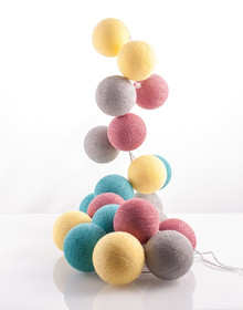 Zestaw Cotton balls Kolorowe Życie 20 kul