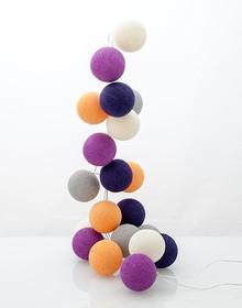 Zestaw Cotton balls Kwitnące Bratki 35 kul