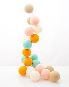 Zestaw Cotton balls Cukierkowy Raj 20 kul