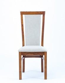 Drewniane, dębowe krzesło Lagos  Wysokość : 100 cm Szerokość : 47 cm Głębokość : 41 cm Wysokość siedziska: 48 cm  Produkt wykonywany na...