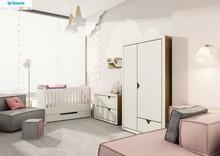 Łóżeczko - tapczanik z kolekcji SIMPLE  Urocze, urzekające prostotą formy łóżeczko -tapczanik Simple z opcją transformacji, rosnące wraz...