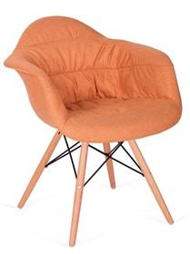 Fotel RUGO ARM pomarańczowy - tkanina, podstawa bukowa