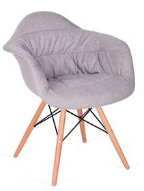 Fotel RUGO ARM szary - tkanina, podstawa bukowa