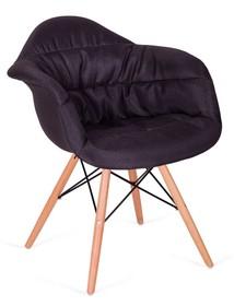 Fotel RUGO ARM czarny - tkanina, podstawa bukowa