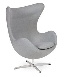 Fotel EGG CLASSIC wełna - szary melanż