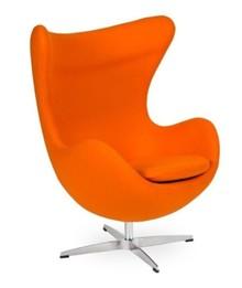 Fotel EGG CLASSIC wełna - marchewkowy