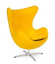 Fotel EGG CLASSIC wełna - żółty słoneczny