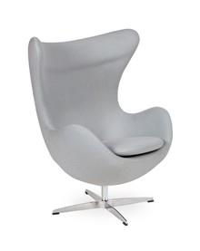 Fotel EGG CLASSIC wełna - szary popielaty
