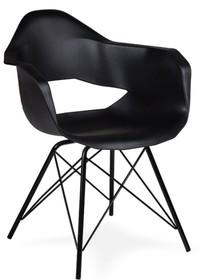 Fotel GULAR DSM czarny - polipropylen, podstawa metalowa czarna