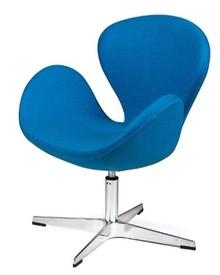Nowoczesny design! Opływowe kształty fotela Swan nadają mu miękkiego wyrazu i świetnie kontrastują z metalową podstawą, tworząc ciekawą kompozycje....