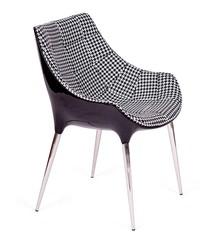 Fotel PASSION tetris, tkanina - włókno szklane, podstawa chromowana