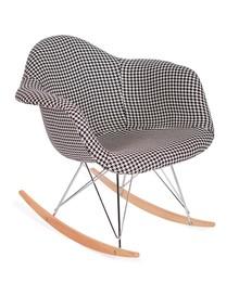 Fotel bujany PLUSH - pepitka