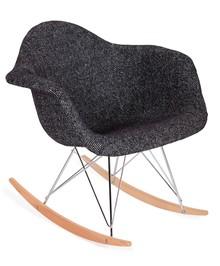 Fotel bujany PLUSH - zebra czarna