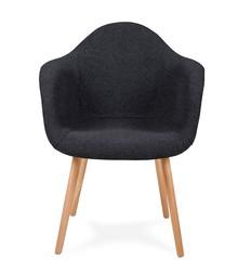 Oparcie i siedzisko tkanina<br />Nogi drewno bukowe<br />Waga netto 1 szt.: 5 kg<br />Waga opakowania: 6 kg<br />Maksymalna ilość...