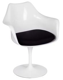 Fotel TULIP biały/czarny