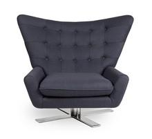 Fotel obrotowy Vings w ciemnym szarym kolorze.<br />Szerokie pikowane oparcie.<br />Miękka duża poducha siedziska. <br />Siedzisko jest...