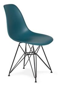 Krzesło DSR BLACK marynarski niebieski #23 - podstawa metalowa czarna