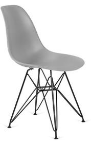 Siedzisko i oparcie wykonane jest z tworzywa sztucznego.<br />Nogi zrobione są ze stali lakierowananej proszkowo na kolor czarny matowy.<br />Waga...