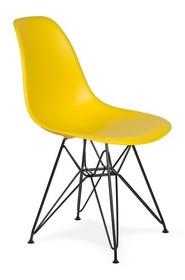Krzesło DSR BLACK - słoneczny żółty