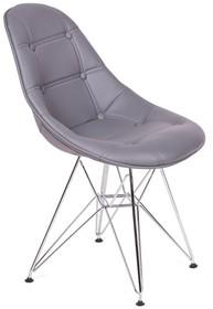 Krzesło tapicerowane ekoskórą.<br />Nogi stal polerowana na wysoki połysk.<br />Waga netto 1 szt.: 3.50 kg<br />Waga opakowania: 4...