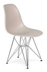 Krzesło DSR SILVER - beżowy