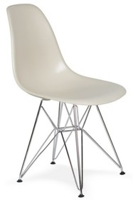 Krzesło DSR SILVER - migdał pralinowy