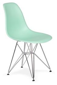 Krzesło DSR SILVER pastelowa mięta.14 - podstawa metalowa chromowana