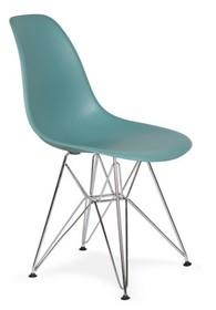 Krzesło DSR SILVER - pastelowy turkus