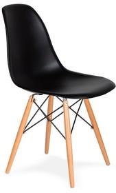 Krzesło DSW WOOD - czarny