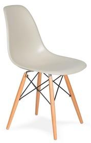 Krzesło DSW WOOD migdał pralinowy.29 - podstawa drewniana bukowa