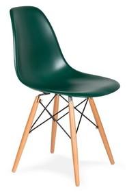 Krzesło DSW WOOD myśliwska zieleń.34 - podstawa drewniana bukowa