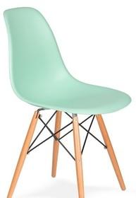 Krzesło DSW WOOD pastelowa mięta.14 - polipropylen, podstawa bukowa