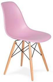 Krzesło DSW WOOD - pastelowy róż