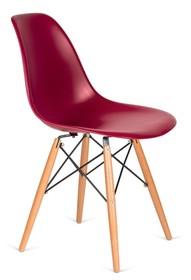 Krzesło DSW WOOD - bordowy