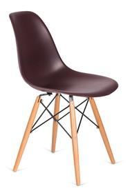 Krzesło DSW WOOD - brązowy